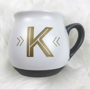 "Threshold Large Mug Monogram Letter ""K"" Stoneware"